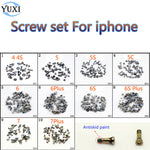 YuXi Screws Full Screw Set for iPhone 4 4S 5 5S 5C Repair bolt Complete Kit Replacement Repair Parts-teefury