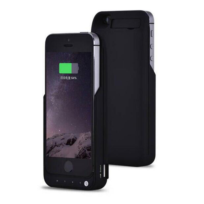 GOLDFOX 4200mAh External Battery Backup Charger Case For iPhone 5 SE Emergency Phone Battery Charger Case For iPhone 5s-teefury