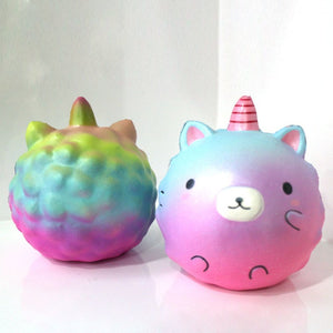 Jumbo Soft Slow Rising Rainbow Squishy Cute Bear/Panda Phone Straps DIY Decor Bread Cake Scented Kid Toy 11.5CM P10-teefury