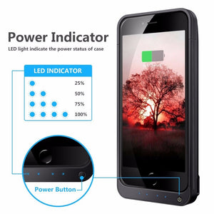NENG Hot High Capacity 4200mAh Battery Case for iPhone 5 5C 5S SE Portable Fast Charger Backup External Power Bank-teefury