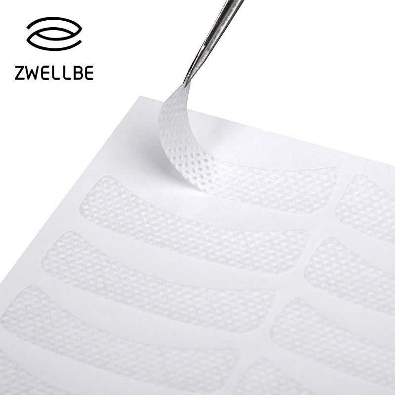 zwellbe 50pairs/pack Medical Non-woven Fabrics Patches Eyelash Under Eye Pads Lash Eyelash Extension Fabric Patches Eye Tips-teefury