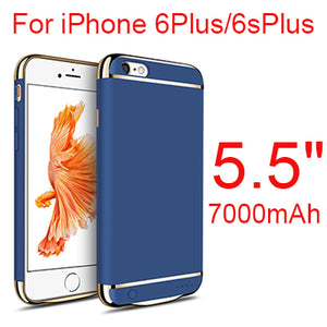 4500mAh/7000mAh Slim Ultra Thin Phone Battery Case For iPhone 6 6 s plus Power Bank Backup Charger Case For iPhone 6 6s 7 8 Plus-teefury