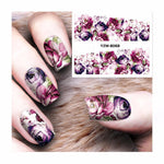 ZKO 1 Sheet Nail Sticker Water Adhesive Foil Nail Art Decorations Tool Water Decals 3d Design Nail Sticker Makeup 8068-teefury