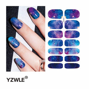 YZWLE 1 Sheet Water Transfer Nails Art Sticker Manicure Decor Tool Cover Nail Wrap Decal (YSD078)-teefury