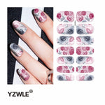 YZWLE 1 Sheet Water Transfer Nails Art Sticker Manicure Decor Tool Cover Nail Wrap Decal (YSD047)-teefury