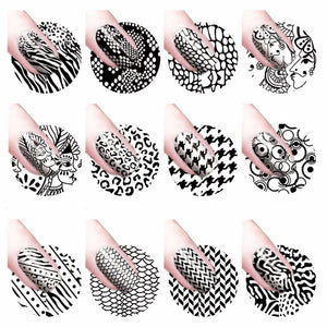 YZWLE 1 Sheet Water Transfer Nail Art Sticker Decal Foil Adhesive Nails Tips Black Leopard Designs Nail Decoration Makeup Tools-teefury