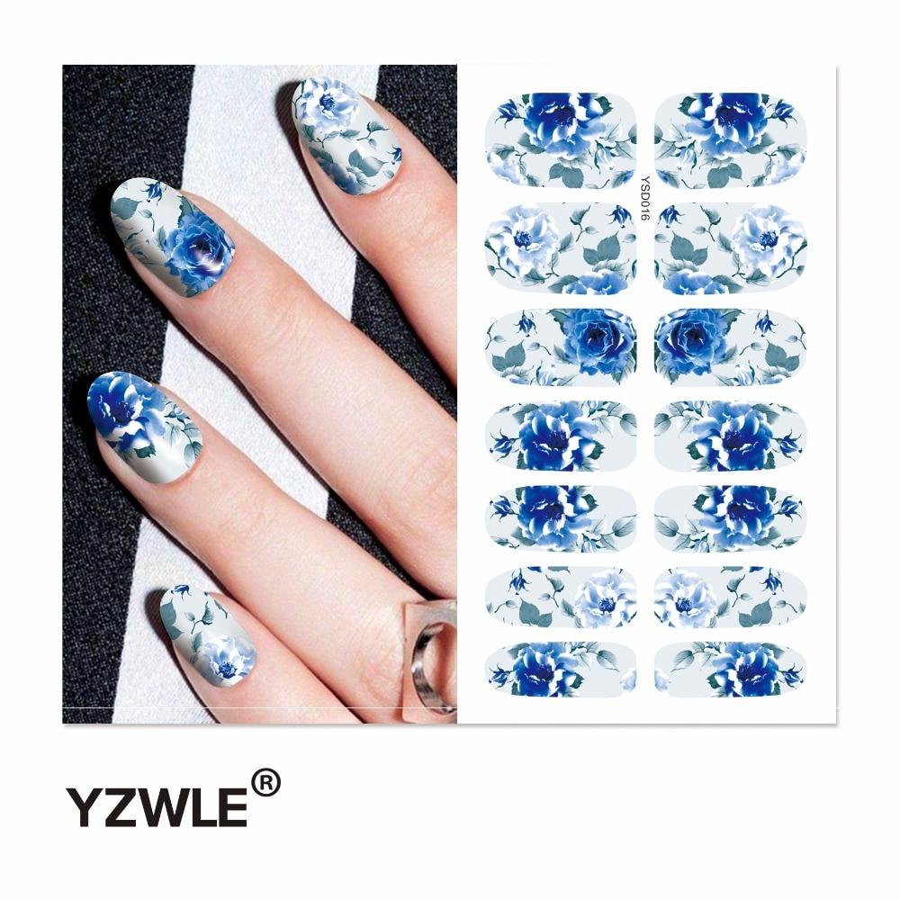 YZWLE 1 Sheet Water Transfer Nails Art Sticker Manicure Decor Tool Cover Nail Wrap Decal (YSD016)-teefury