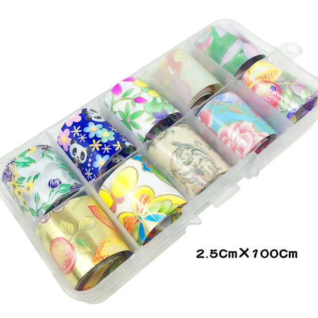1 Box Shell Nail Foil Holiday Seaside Design Nail Transfer Foil Sticker Manicure Nail Art Decorations-teefury