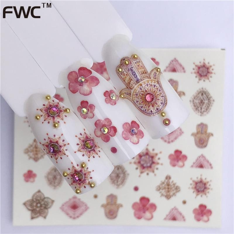 ZKO 1 Sheet Water Transfer Nail Stickers Decals Fruit/Ice Cream/Cake Pattern Nail Art Stickers Wraps Manicure Decoration-teefury