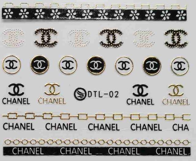 Newest 3 sheet 12 type Gold/Silver Nail Stickers Designs Gummed 3D Nail Art Stickers Decals Makep Art Decorations DTL01-12-teefury