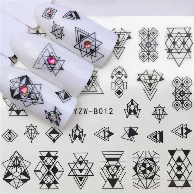 ZKO 31 Styles Flower Vintage Nail Art Water Transfer Sticker Decals DIY Tips-teefury