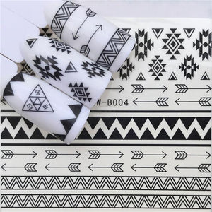ZKO New Design 1 Sheet Black Color Bow tie Shape Sliders Decal DIY Adhesive Decoration Sticker Nail Accessory Tips-teefury