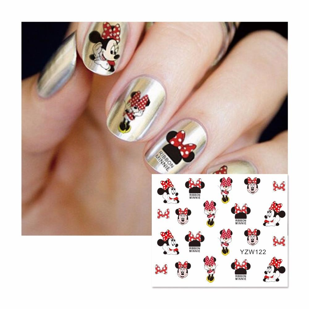 ZKO 1 Sheet Cartoon Watermark Stickers Nail Art Water Transfer Tips Decals Beauty Temporary Tattoos Tools 122-teefury
