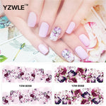 YZWLE 2 Patterns/Set peony and plum flower Nail Art Water Decals Transfer Sticker YZW-8058&8068-teefury