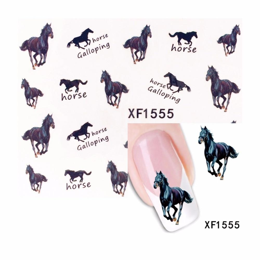 ZKO 1 Sheet Pentium Horse Design Water Transfer Nail Art Sticker Water Decals DIY Decoration For Beauty Nail Tools 1555-teefury