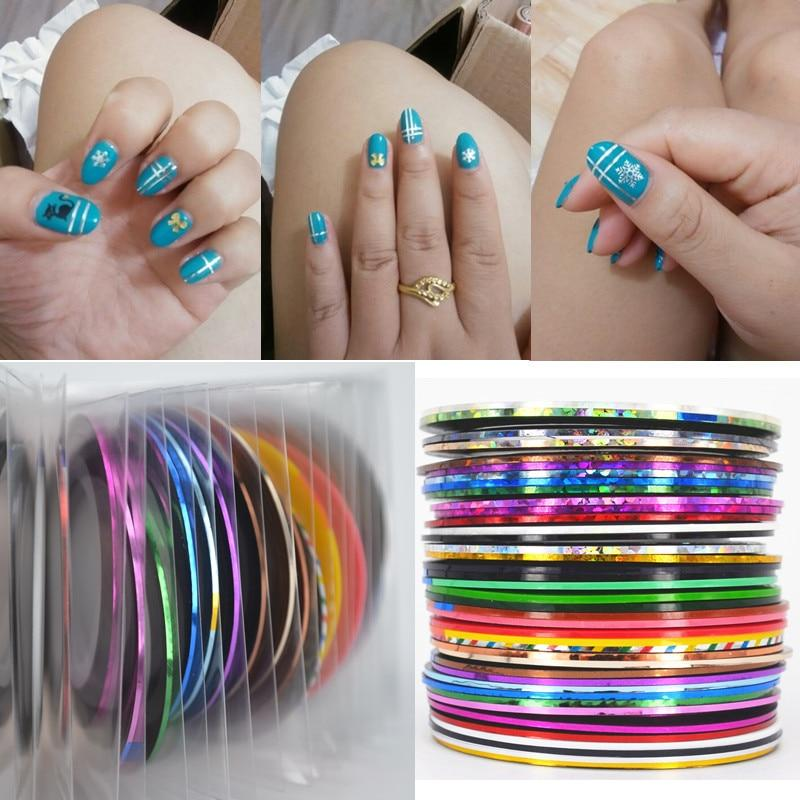 ZKO 1 Pc 40 Colors Optional 0.8mm Nail Striping Tape Line For Nails Decorations Diy Nail Art Decal Tools-teefury