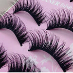 #5001 Fashion Dense Woman Eye lash 5 Pairs Fashion Natural Handmade Long False Black Eyelashes Makeup Description: 100% Ne-teefury
