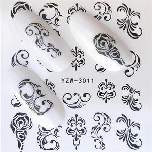 ZKO 1 PC Hot Nail Sticker Leading Knotted Cat/Flower Beauty Water Transfer Stamping Nail Art Tips Nail Decor Manicure Deca-teefury