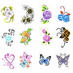 YZWLE 1 Sheet Water Transfer Nail Art Sticker Flowers Butterfly Design Nails Wraps Sticker Tips Supplies Decal-teefury