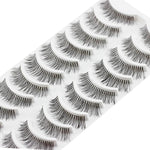 #5001 Fashion High Quality Eye Lash 10 Pairs Thick Long Cross Party False Eyelashes Black Band Fake Eye Lashes-teefury
