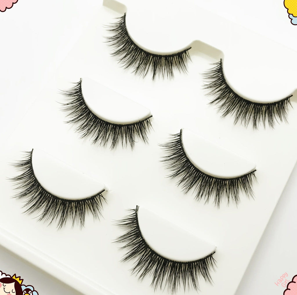 brand new 3 pairs natural false eyelashes fake lashes long makeup 3d mink lashes extension eyelash mink eyelashes for beauty #11-teefury