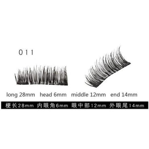 3D Magnetic Eyelash False Eyelash Easy Wear Double Magnet Full Strip Magnetic Lashes Soft Hair Reusable Fake Eye Lashes 4pcs/set-teefury
