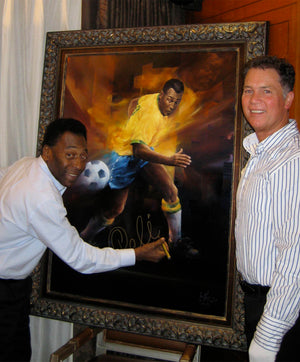 Pele - Limited Edition Framed Giclee Print