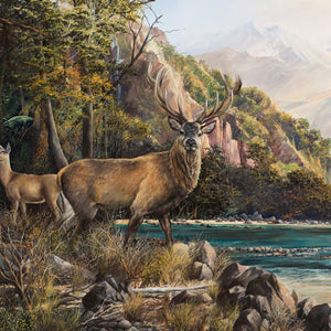 Red Stag Southern Alps - Giclee Print