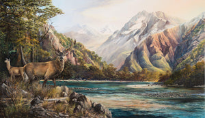 Red Stag Southern Alps - Artist's Proof