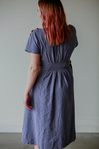 Nora Side Tie, Linen Dress