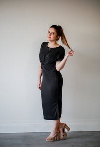 Mackenzie, Black Twist Dress