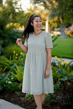 Christine, Women's Grey Eyelet Dress