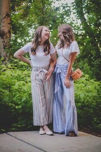 The New York City, Blue Striped Maxi Pants