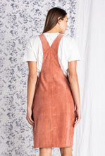La Rochelle, rust, overall Jumper dress
