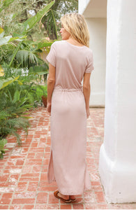 Monaco, Blush Jersey Knit Tee Dress