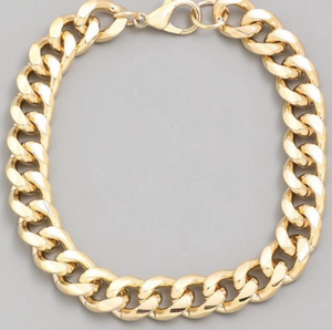 Women's Chunky Gold Chain Bracelet