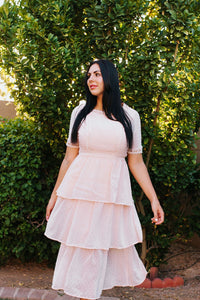 Isla, soft pink, feminine dress
