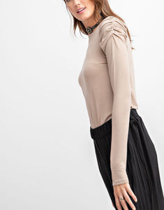 Newport, Ruched Sleeved Tee Shirt