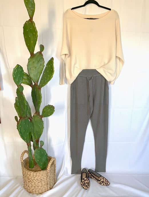 Women's  jogger sweater knit lounge pant