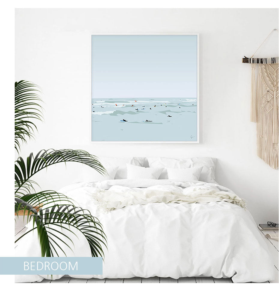 Abstract Swimming in The Sea Canvas Art