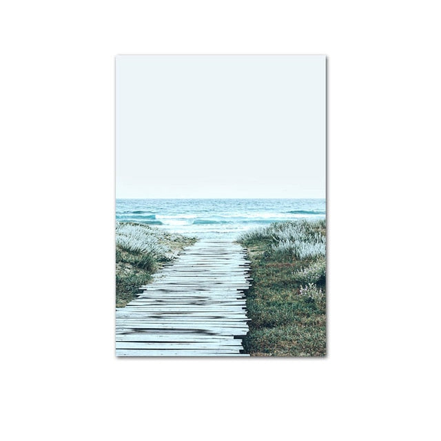 Beach Walkway Canvas Art