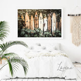 Summer Tropical Decoration Surf Boards Hawaii Canvas Art