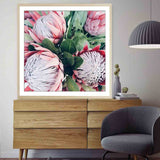 South Africa Protea Pink King Flower Canvas