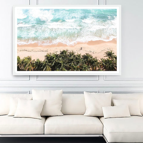 Colourful Ocean & Beach Canvas