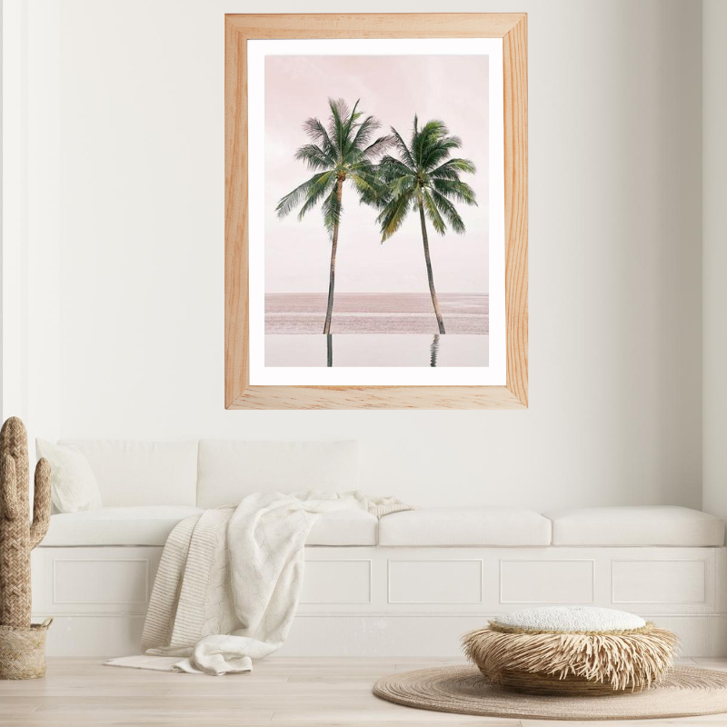 Twin Coconut Tree Canvas Art