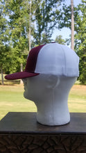 Load image into Gallery viewer, Burgundy Trot Line Logo Mesh Snapback Trucker Hat