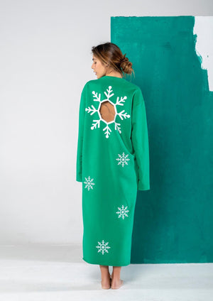 Wholly Wear Snowflake Sweater Dress (maxi)