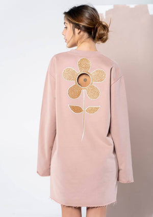 Wholly Wear Sweater Flower Dress