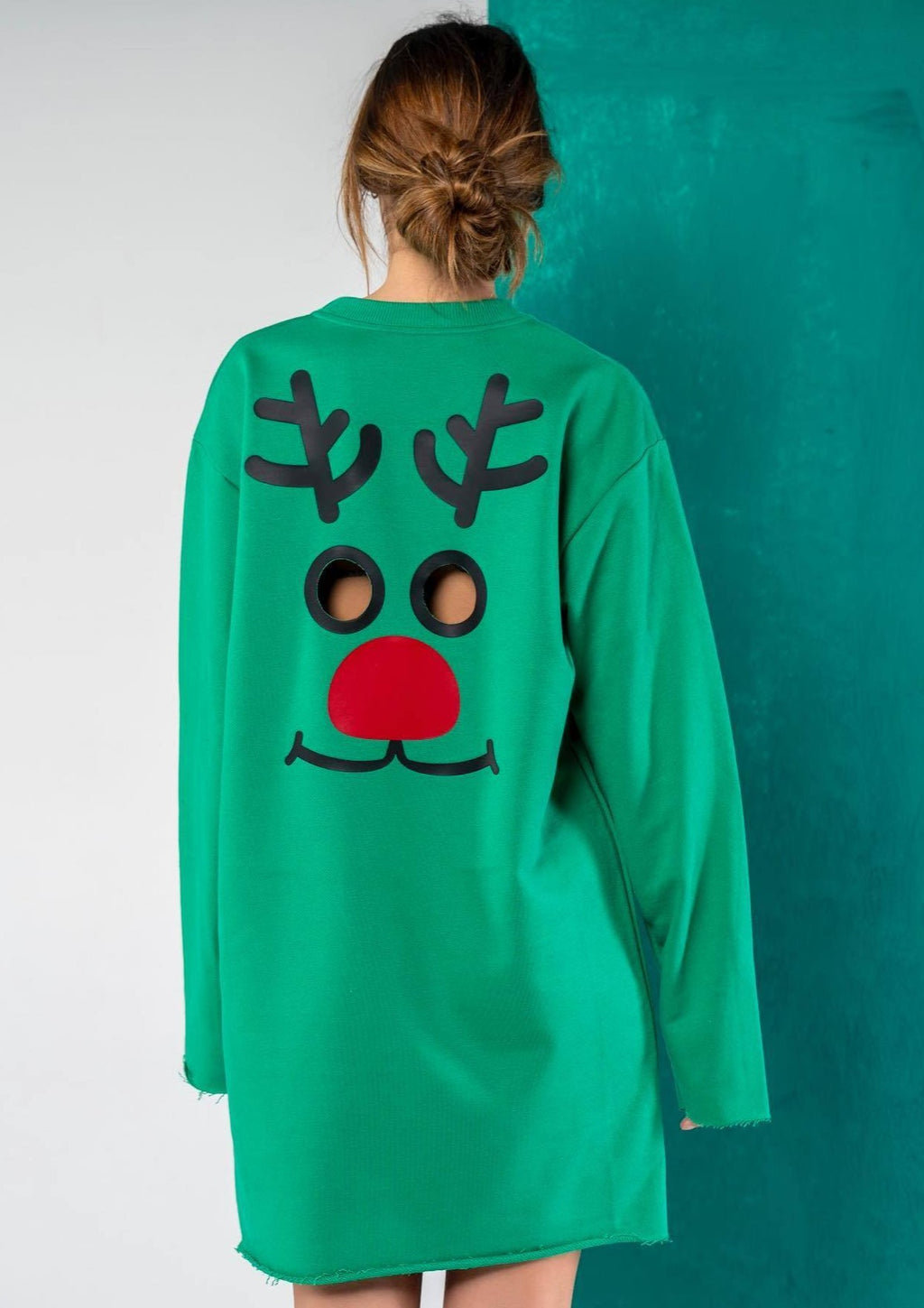 Wholly Wear Reindeer Sweater Dress
