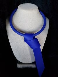 Blue Tie Necklace - Samuel Coraux